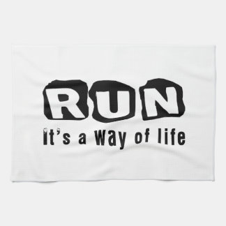 Run It's a way of life Kitchen Towel