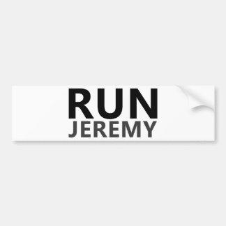 Run Jeremy Bumper Sticker