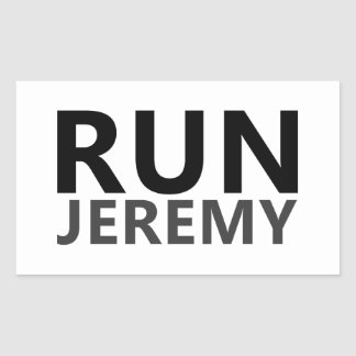 Run Jeremy Rectangular Sticker