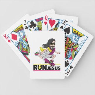 Run Jesus Bicycle Playing Cards