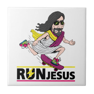 Run Jesus Ceramic Tile