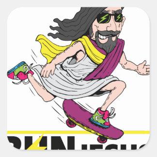 Run Jesus Square Sticker
