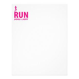 Run, jog and joy letterhead