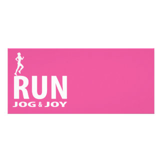 Run, jog and joy rack card