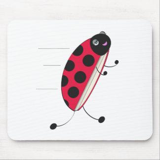 Run Ladybug Run! Mousepads