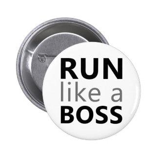 Run Like A Boss 2 Inch Round Button