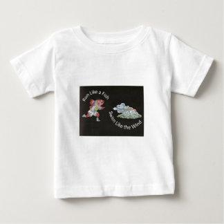 Run Like a Fish, Swim Like the Wind Baby T-Shirt