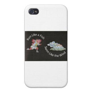 Run Like a Fish, Swim Like the Wind iPhone 4 Cover