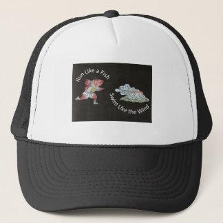 Run Like a Fish, Swim Like the Wind Trucker Hat