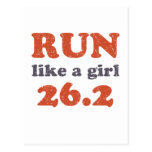 Run like a girl 26.2 postcard