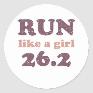 Run like a girl 26.2 sticker