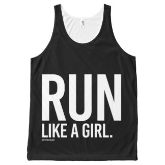 Run like a girl -   Girl Fitness -.png All-Over Print Tank Top