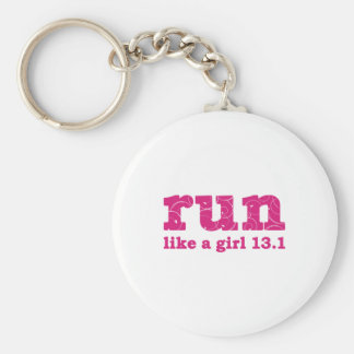 run like a girl key chain
