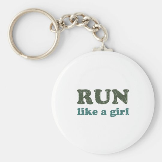 Run like a girl keychain