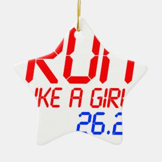 run-like-a-girl-lcd.png ceramic ornament