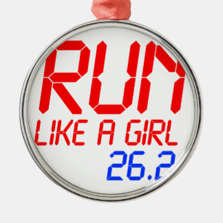run-like-a-girl-lcd.png metal ornament