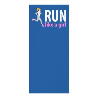 Run like a girl rack card