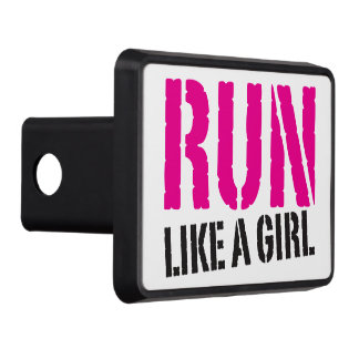 Run Like A Girl - Workout Inspiration Tow Hitch Cover