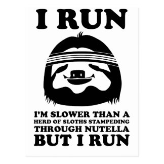 Run Like A Sloth Postcard