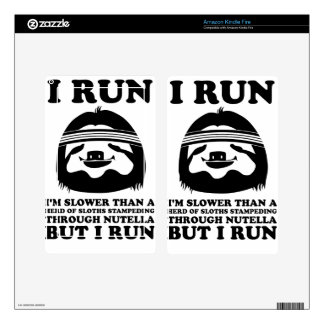 Run Like A Sloth Kindle Fire Skins