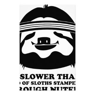 Run Like A Sloth Custom Stationery