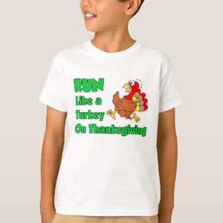 Run Like Turkey On Thanksgiving T-Shirt