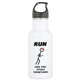 Run Like You Stole Something Water Bottle