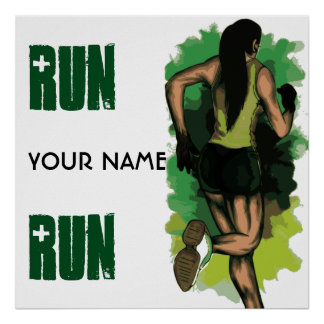 Run Lola Run - Customizable Running Inspritation Poster