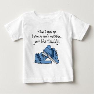 Run Marathon Just Like Daddy Baby T-Shirt