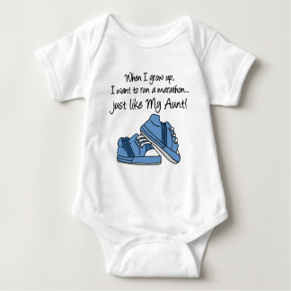Run Marathon Just Like My Aunt Baby Bodysuit