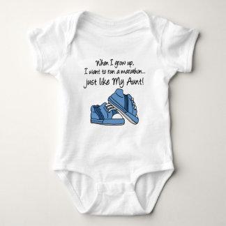 Run Marathon Just Like My Aunt Infant Creeper