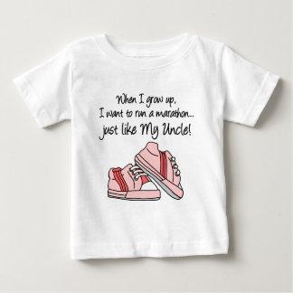 Run Marathon Just Like My Uncle Baby T-Shirt