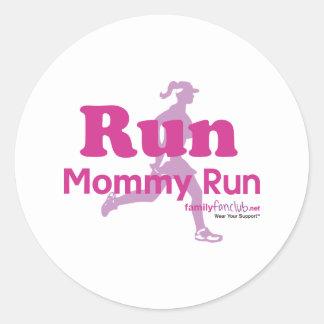 Run Mommy Run Classic Round Sticker