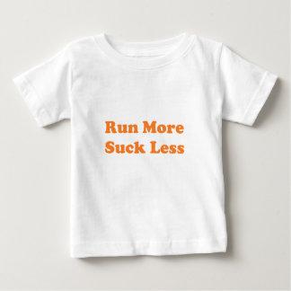 Run More Suck Less Orange Baby T-Shirt