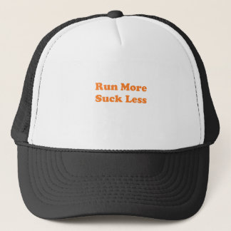 Run More Suck Less Orange Trucker Hat
