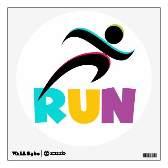 RUN Multi Wall Sticker