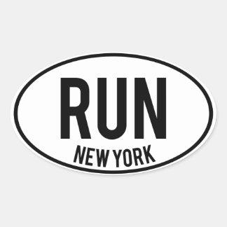 RUN new york Oval Sticker