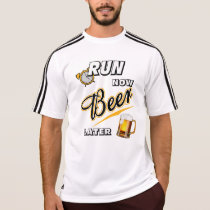 Run Now Beer Later Adidas SS T-Shirt