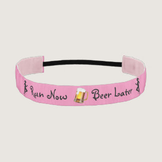 Run Now Beer Later Athletic Headband