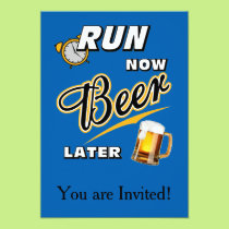 Run Now Beer Later Card