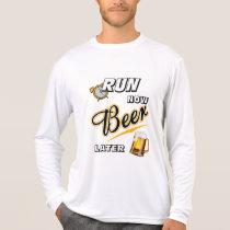 Run Now Beer Later Sport-Tek LS T-Shirt