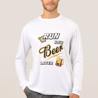 Run Now Beer Later Sport-Tek LS T-Shirt