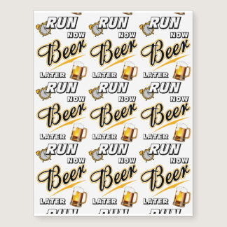 Run Now Beer Later Temporary Tattoos