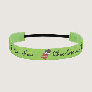 Run Now Chocolate Later Athletic Headband
