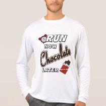 Run Now Chocolate Later Sport-Tek LS T-Shirt