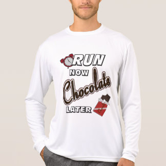 Run Now Chocolate Later Sport-Tek LS T-Shirt