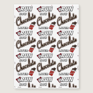 Run Now Chocolate Later Temporary Tattoos