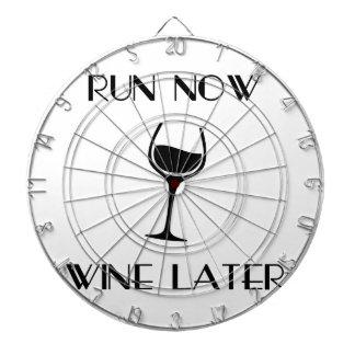 Run Now Wine Later Dartboard