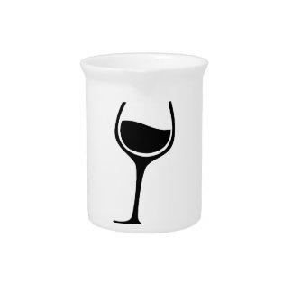 Run Now Wine Later Drink Pitcher