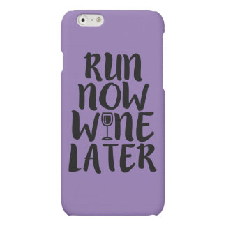 Run Now Wine Later funny phone case